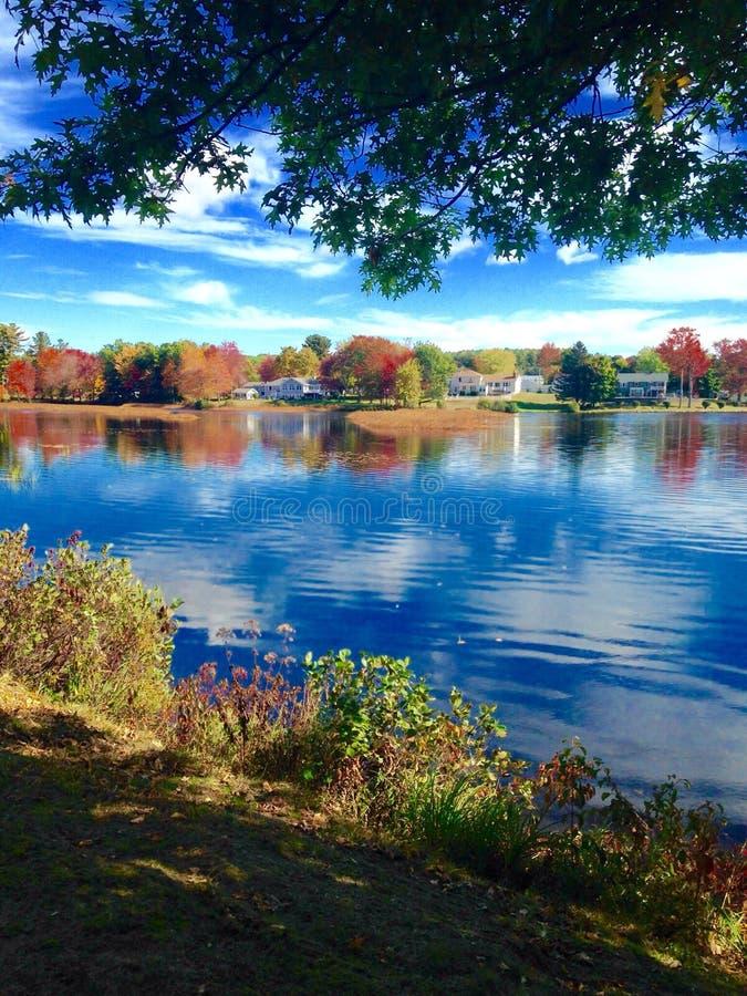Étang dans Maine photographie stock libre de droits