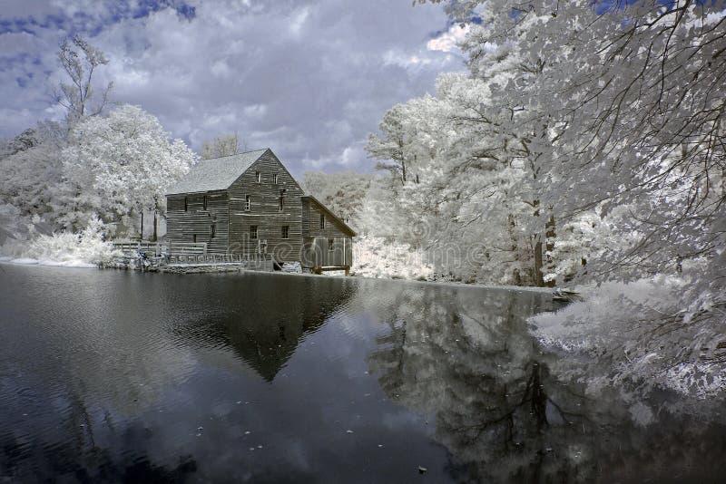 Étang de moulin de Yates, infrarouge photo libre de droits