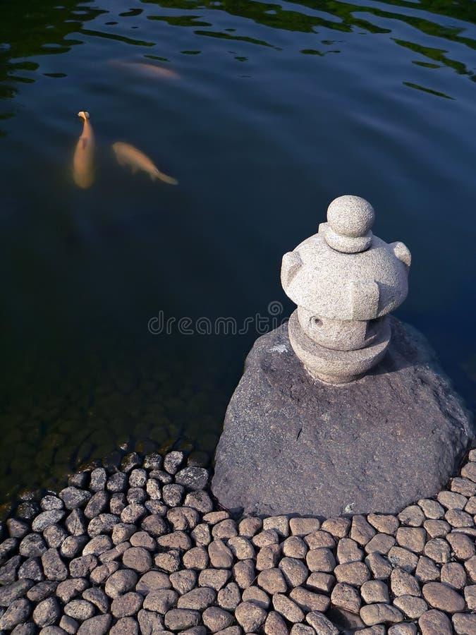 Étang de zen images libres de droits