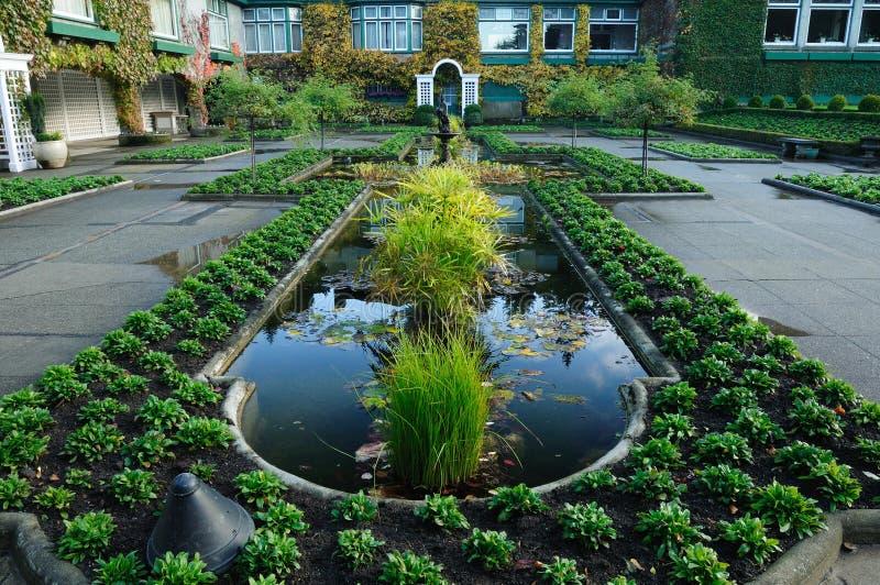 Étang italien de jardin image stock