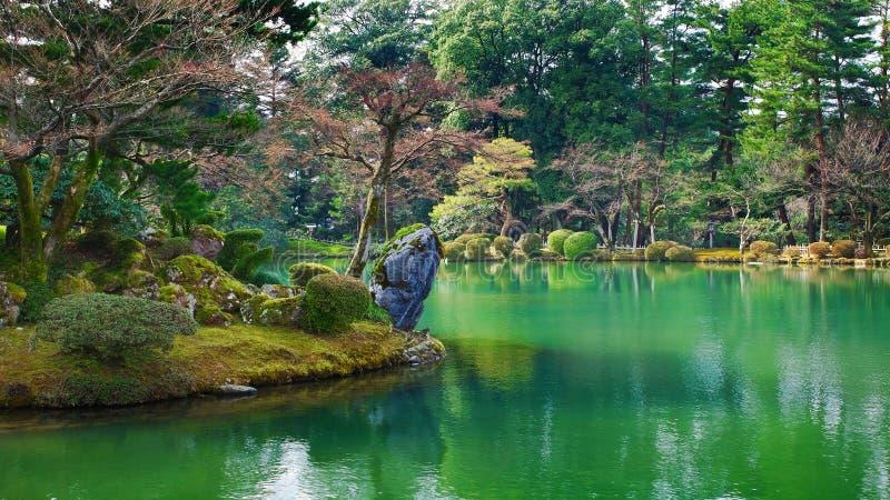 Étang Kenrokuen Kanazawa de Kasumiga-ike image stock