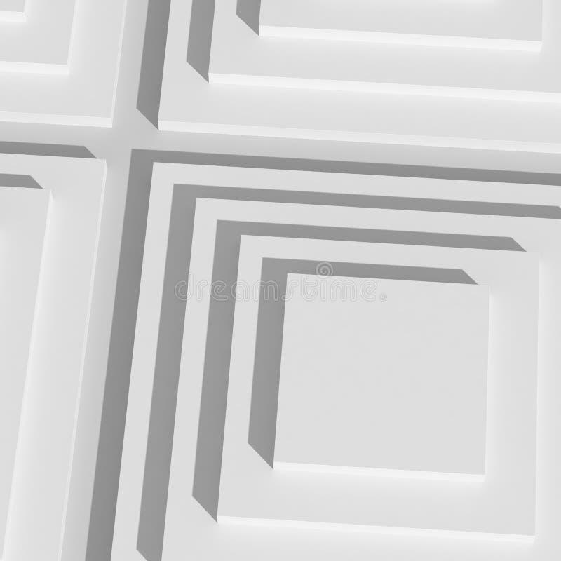Étape blanche d'exposition illustration de vecteur
