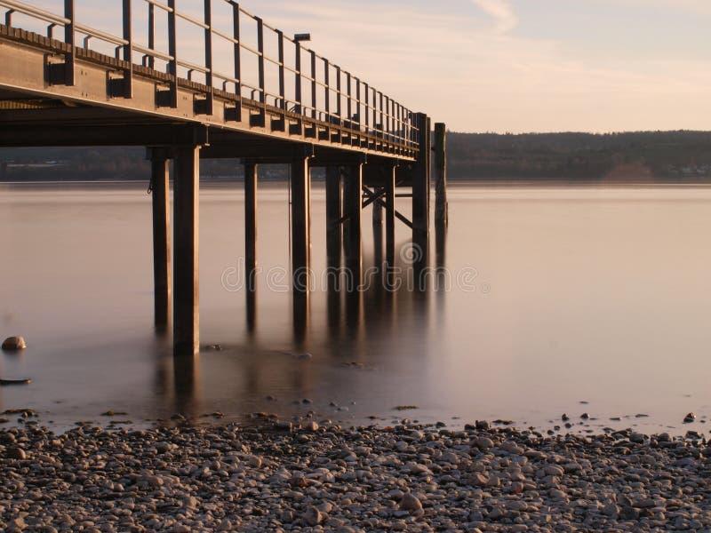 Étape d'atterrissage au lac de Constance photo libre de droits