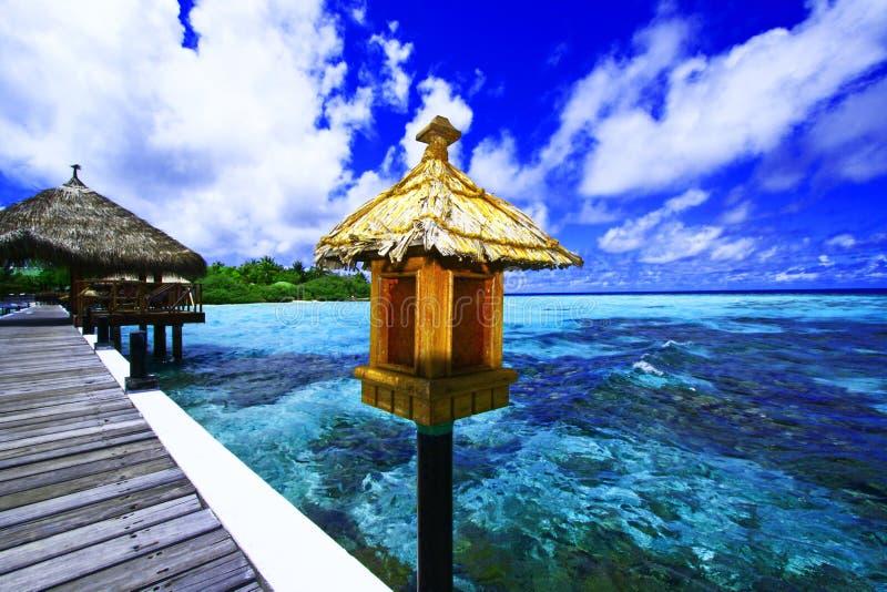 Étape d'atterrissage Maldives photo libre de droits