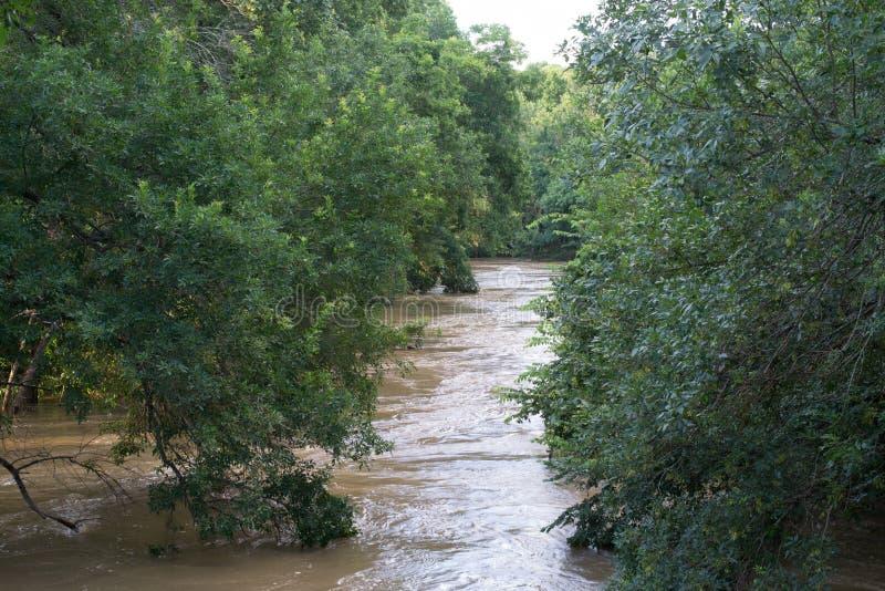 Étape d'inondation de Leon River photographie stock