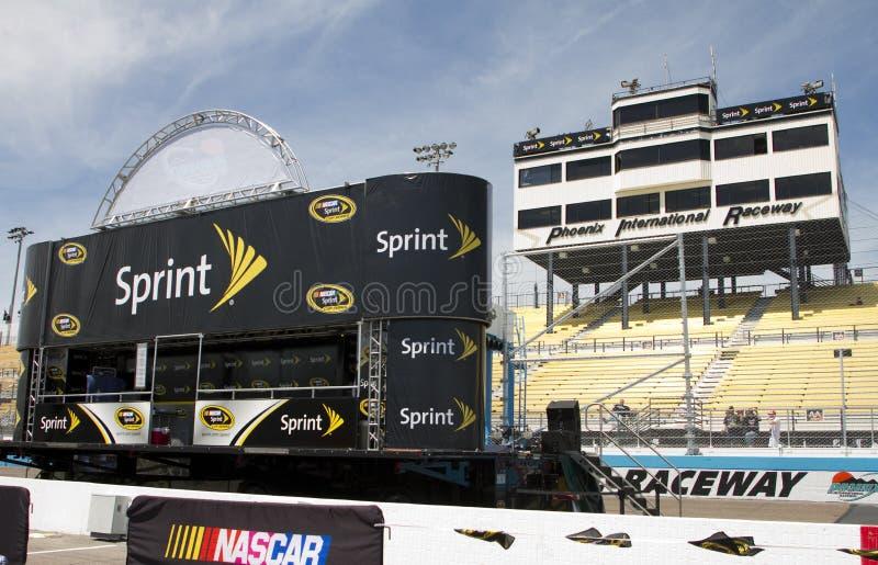 Étape d'introduction de gestionnaire de cuvette de NASCAR Sprint image libre de droits