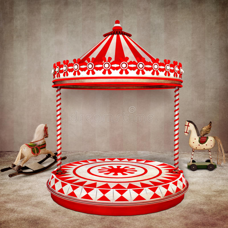Étape de cirque illustration de vecteur