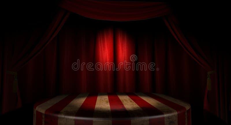 Étape de cirque images stock