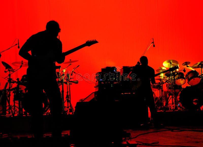 Étape de groupe de rock photographie stock