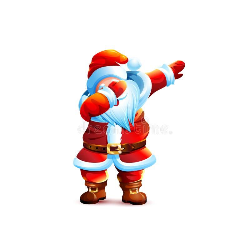 ?tape de limande de danse de caract?re de Frost Christmas de p?re illustration stock