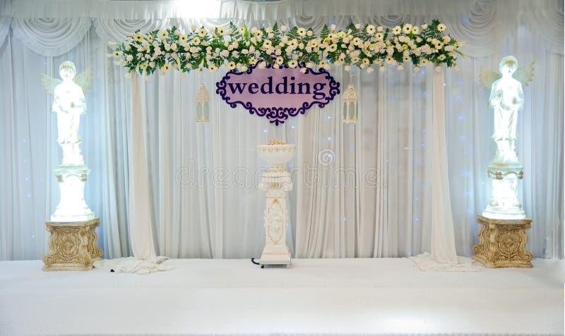 Étape de mariage photo stock
