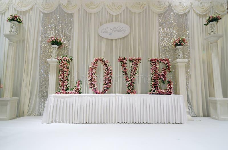 Étape de mariage photos stock