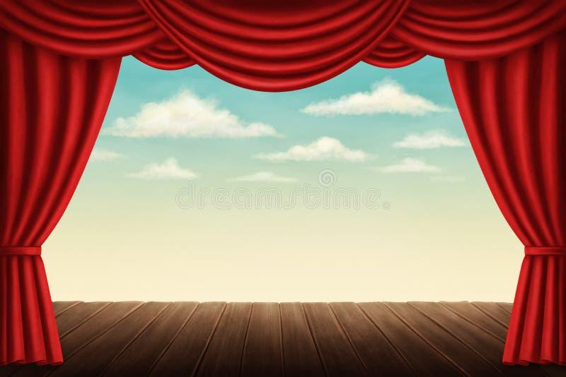 Étape de théâtre illustration de vecteur