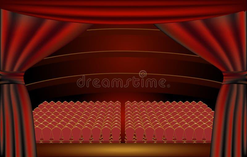 Étape de théâtre, assistance illustration stock