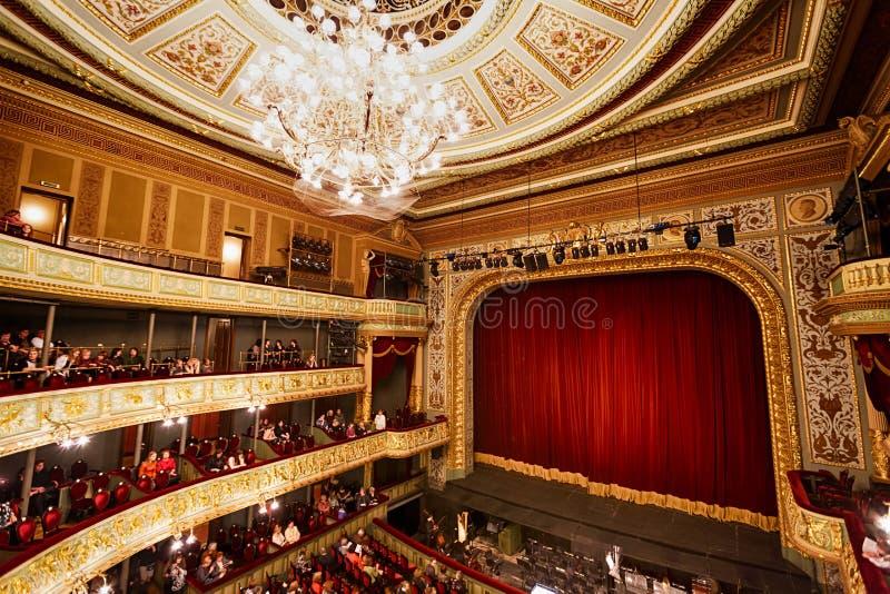 Étape du théatre de l'opéra à Riga image libre de droits