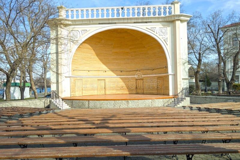 Étape en bois photo libre de droits