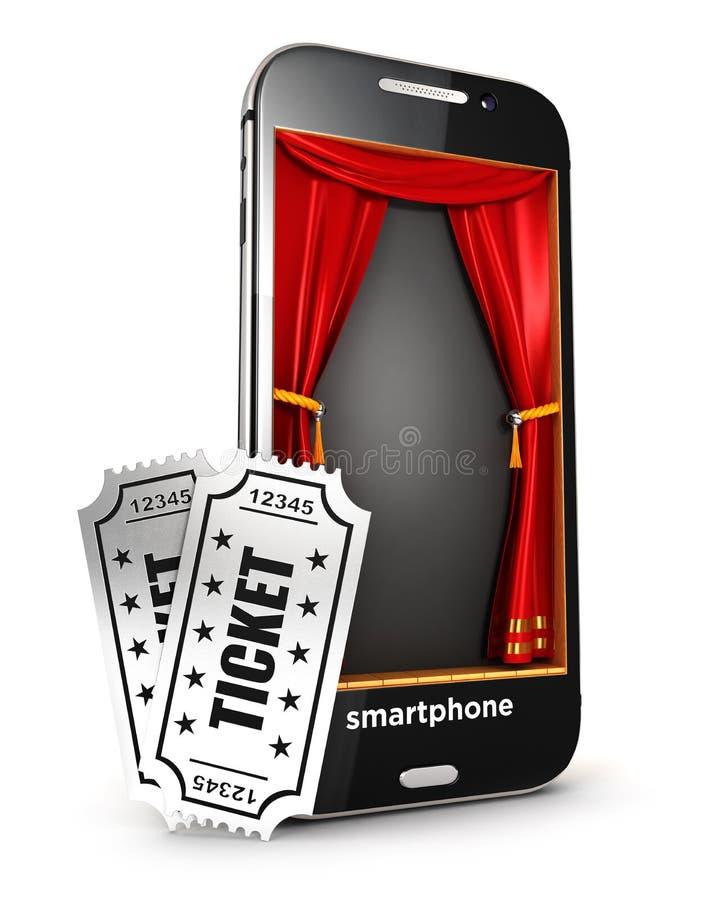 étape et billets du smartphone 3d illustration libre de droits