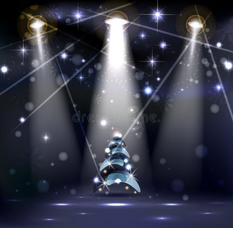 Étape foncée de Noël illustration stock