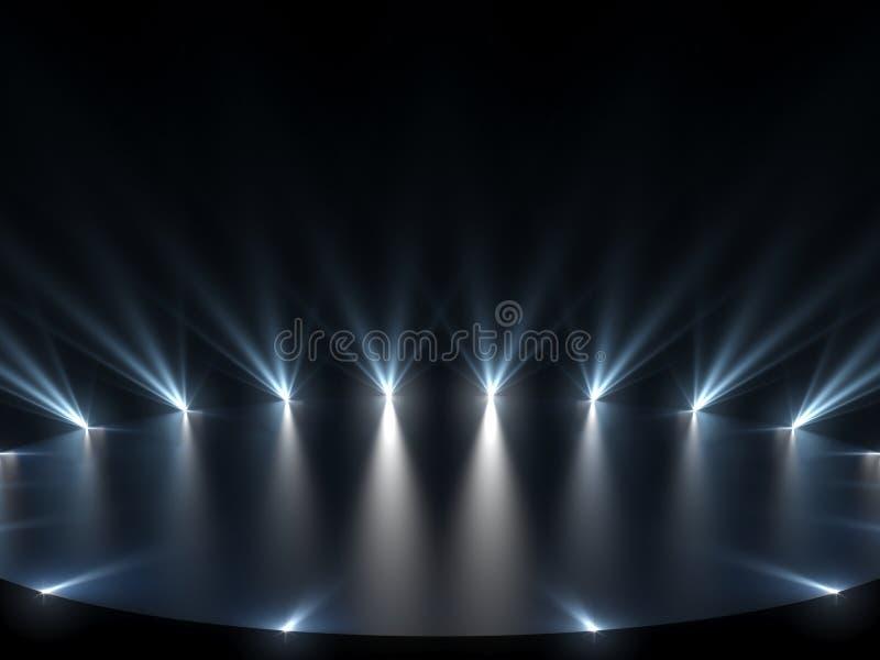 Étape gratuite avec des lumières, dispositifs d'éclairage photos libres de droits