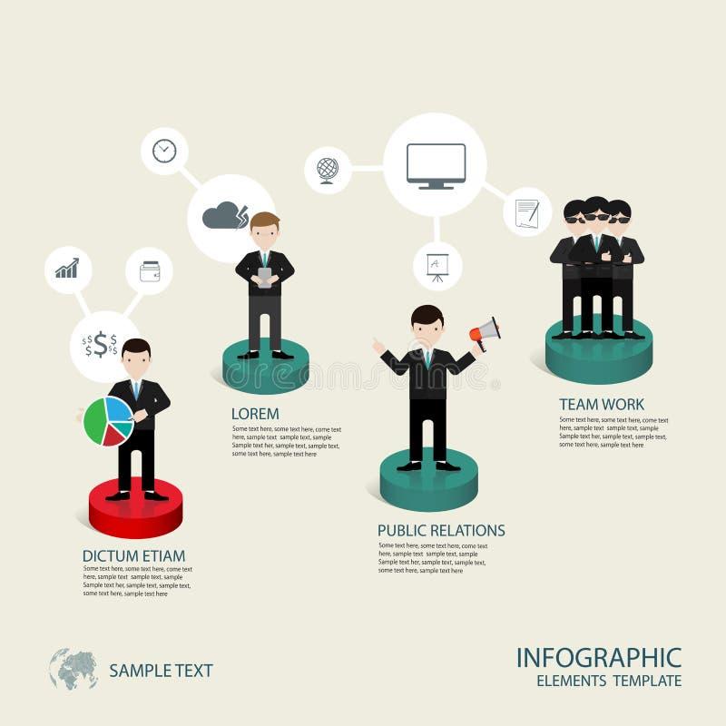 Étape infographic de concept d'affaires à réussi illustration stock