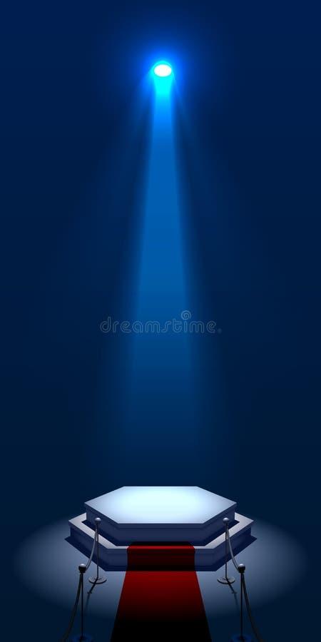 Étape lumineuse illustration de vecteur
