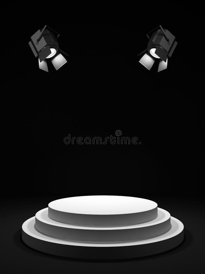 Étape ronde illustration de vecteur