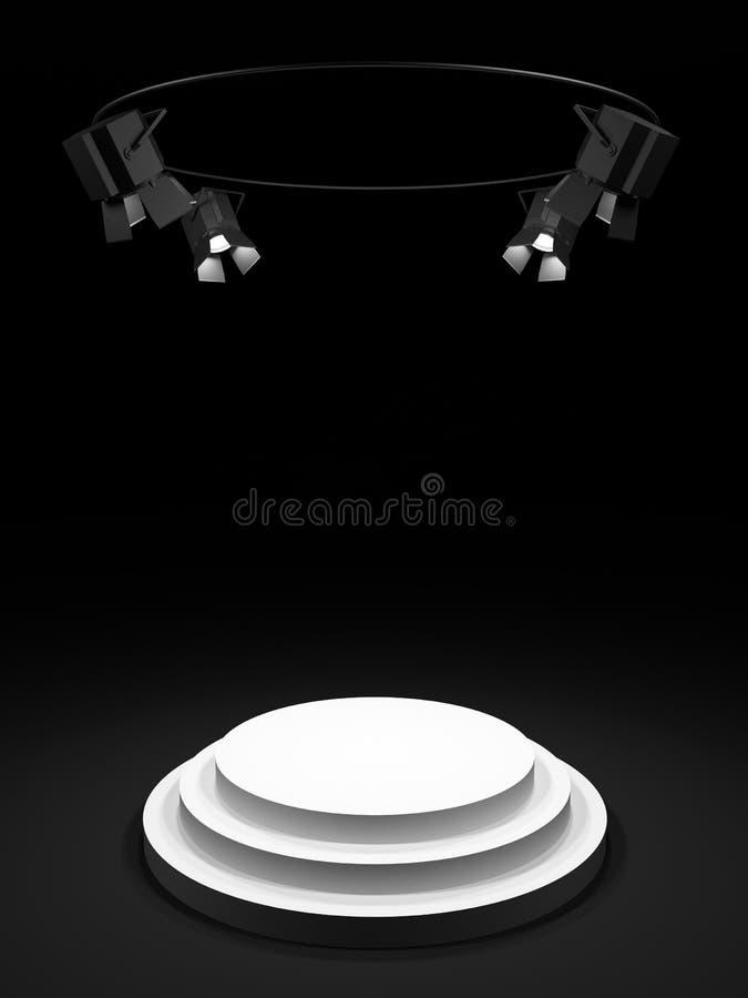 Étape ronde illustration stock