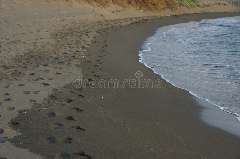 Étape sur la plage image stock