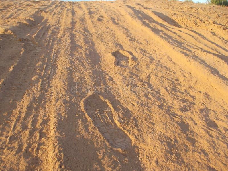 Étapes dans le sable photo libre de droits