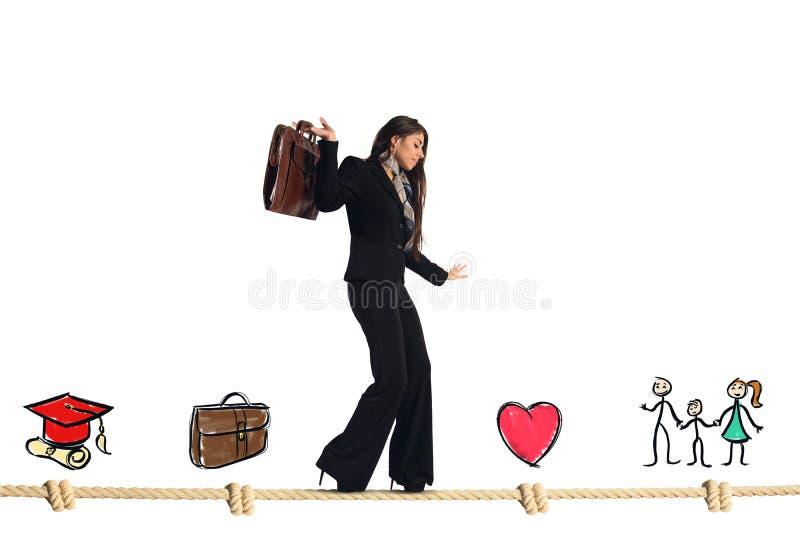 Étapes de la vie de femme d'affaires photos stock