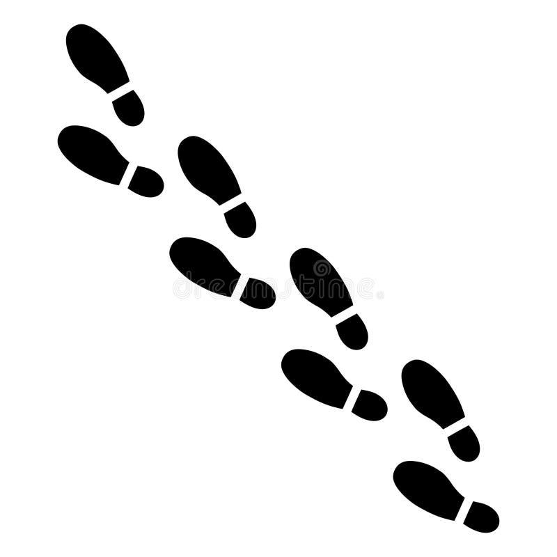 Étapes de pied humain illustration de vecteur