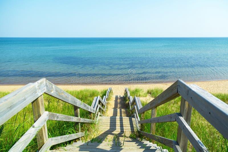 Étapes de plage photos libres de droits