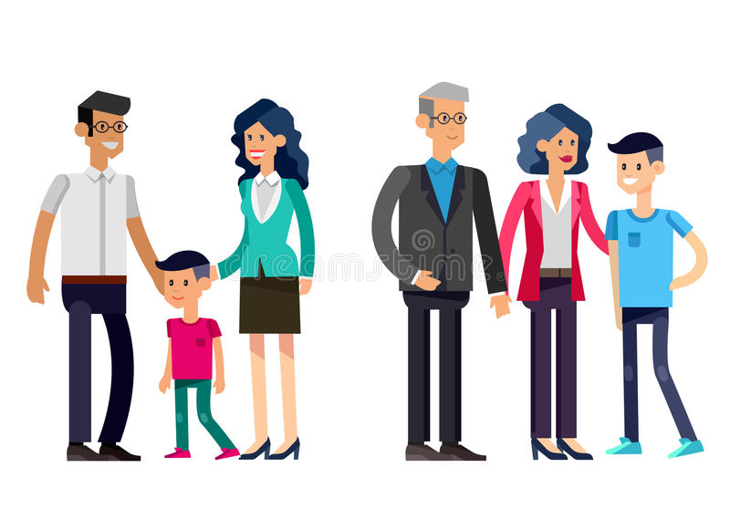 Étapes des couples de jeunes de la vie illustration libre de droits