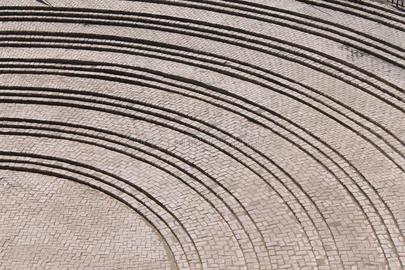 Étapes pavées en cailloutis photo libre de droits