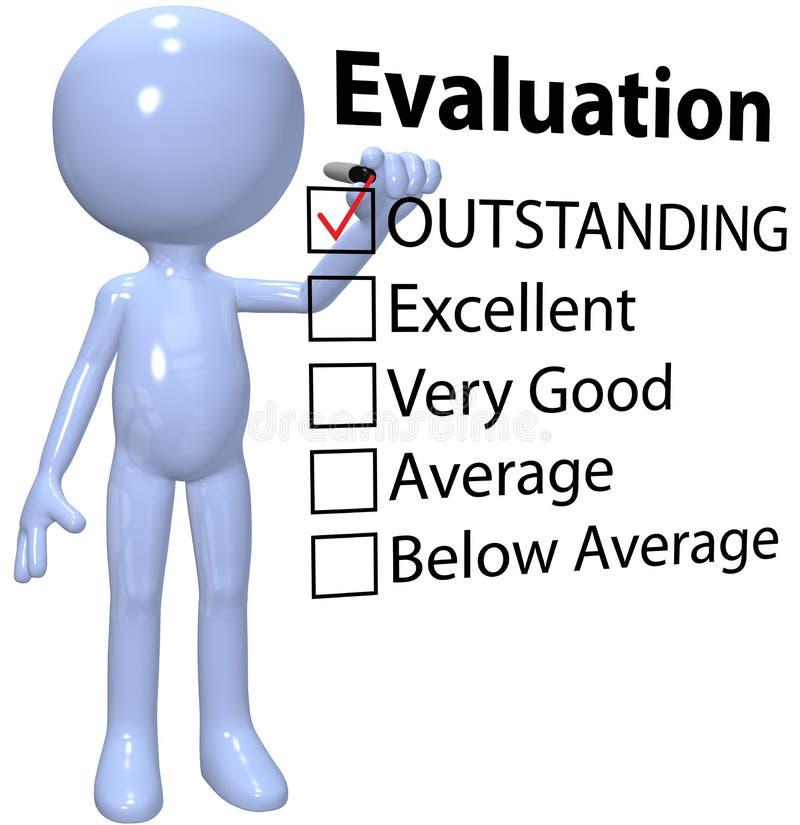 État d'évaluation de la qualité d'affaires de contrôle de gestionnaire illustration de vecteur