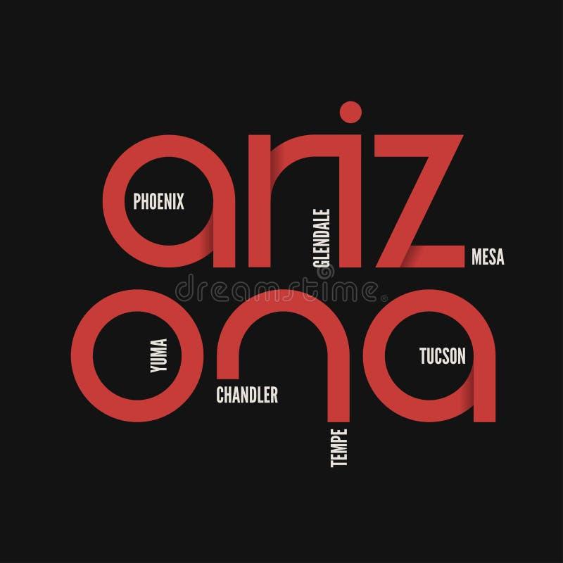 État d'Arzona Le vecteur de T-shirt et d'habillement conçoivent, impriment, typograp illustration libre de droits