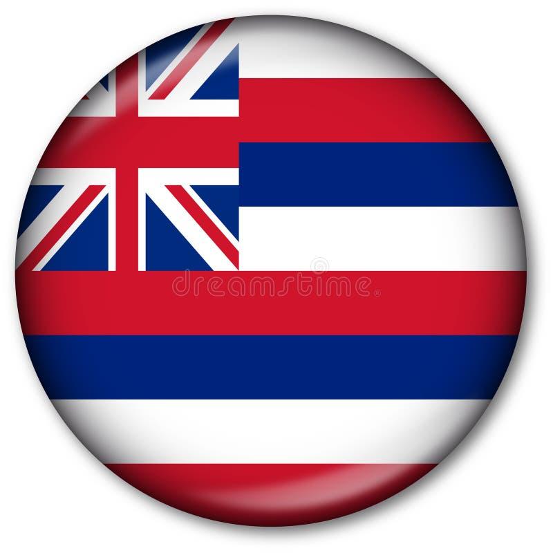 état d'Hawaï d'indicateur de bouton illustration libre de droits