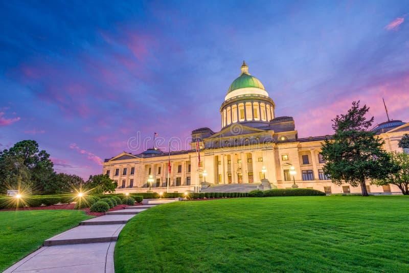 état de capitol de l'Arkansas photo stock