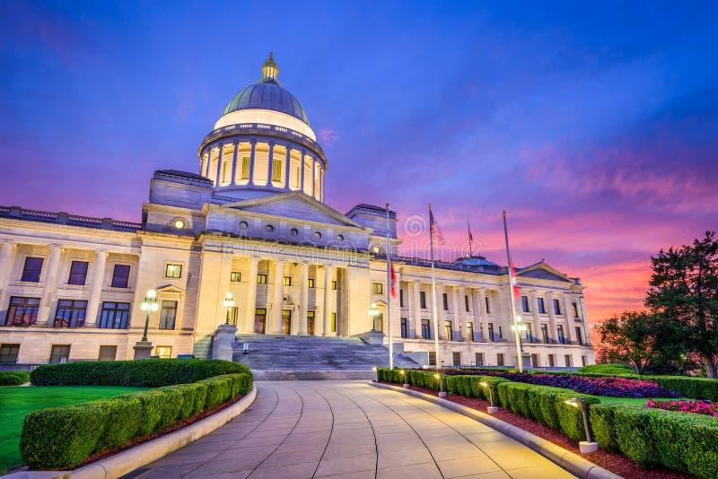 état de capitol de l'Arkansas images libres de droits