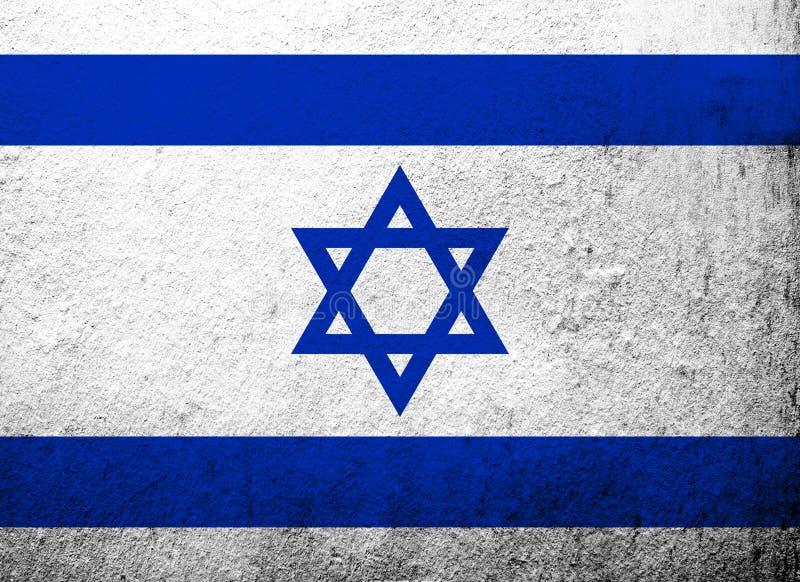 État de drapeau d'Israel National avec l'étoile de David Fond grunge illustration stock