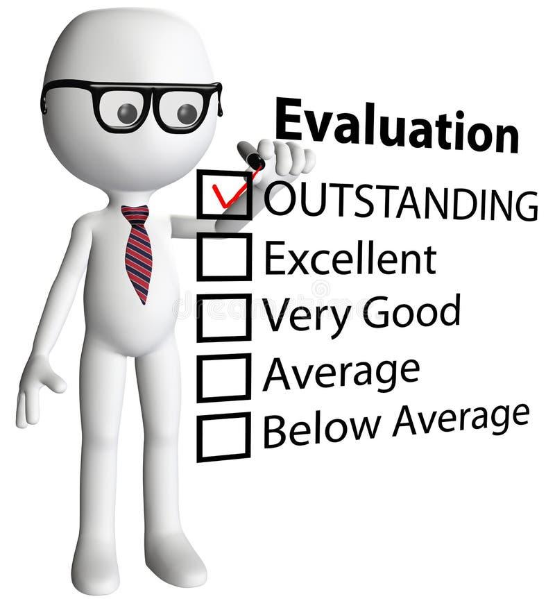 État de formulaire d'évaluation de contrôle de gestionnaire de professeur illustration stock