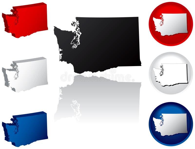 État de graphismes de Washington illustration libre de droits