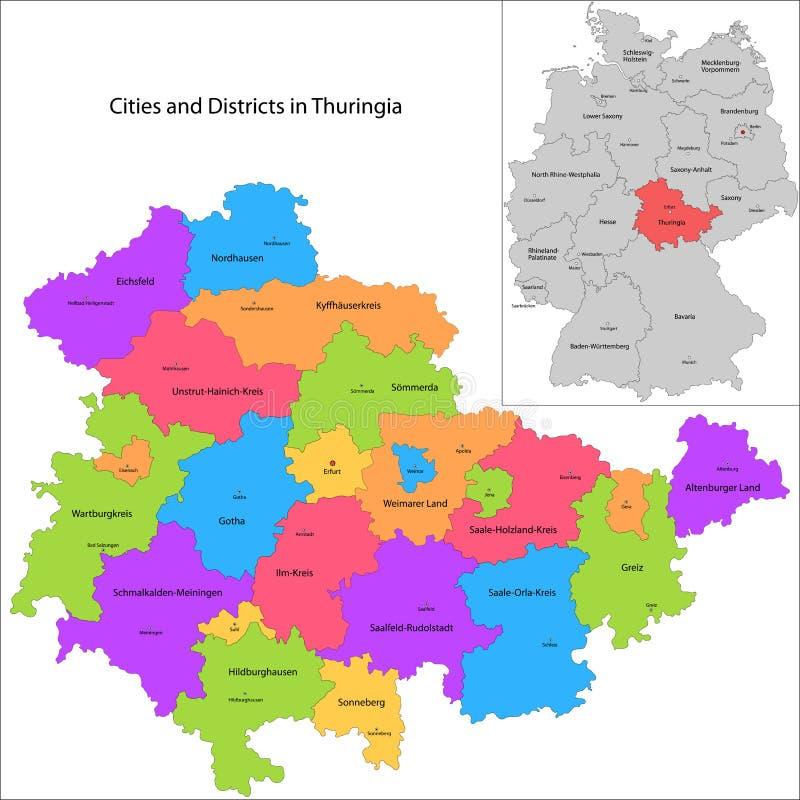 État de l'Allemagne - le Thuringe illustration libre de droits