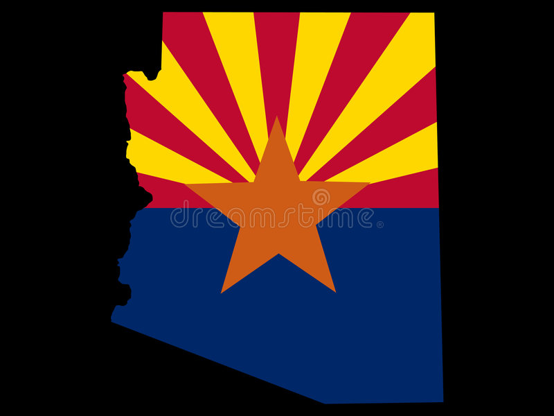 État de l'Arizona illustration libre de droits