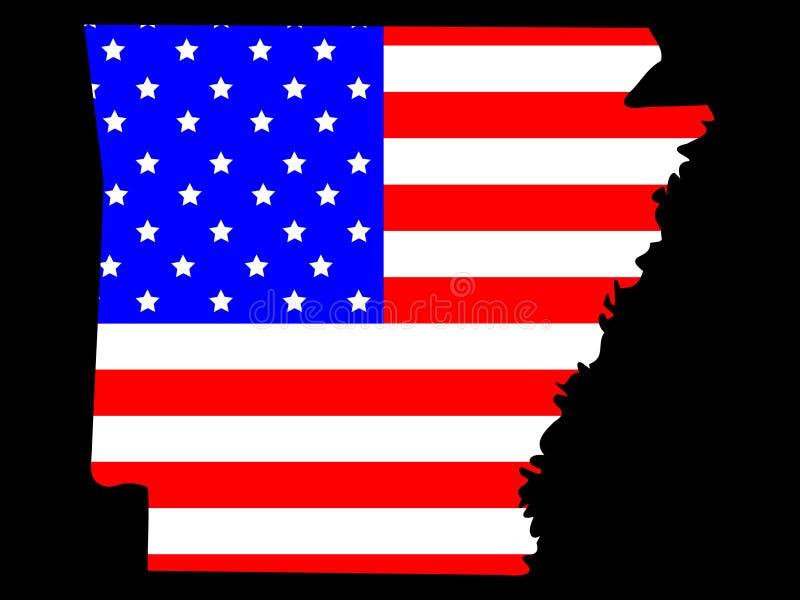 État de l'Arkansas illustration stock