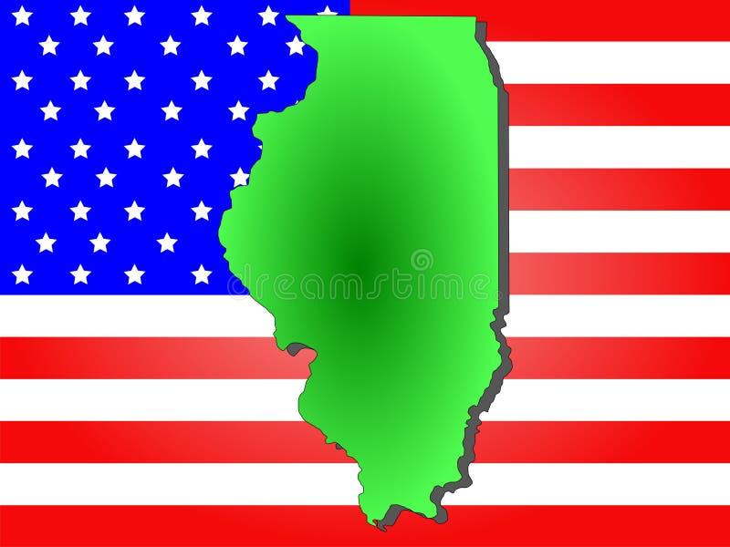 État de l'Illinois illustration libre de droits