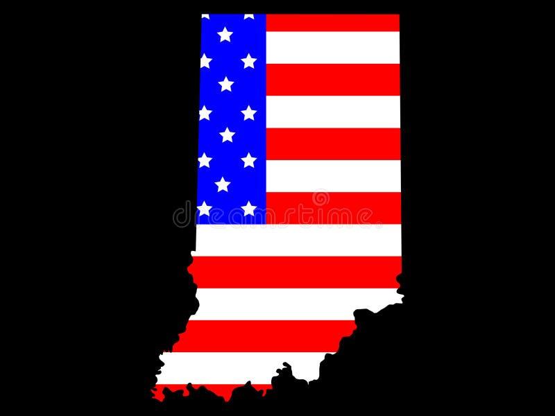 État de l'Indiana illustration libre de droits