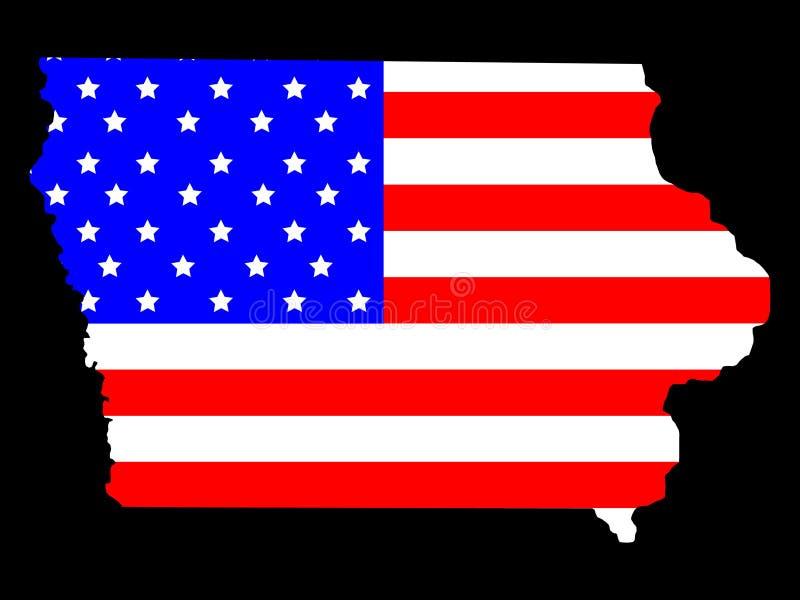 État de l'Iowa illustration libre de droits