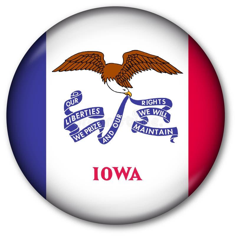 état de l'Iowa d'indicateur de bouton illustration de vecteur