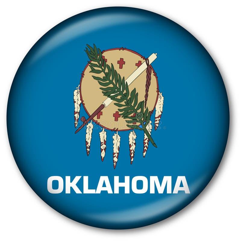 état de l'Oklahoma d'indicateur de bouton illustration libre de droits